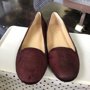 New Kate spade oxblood ponyhair flat in size 9